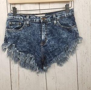 Vibrant cut off Jeans shorts size large